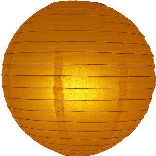 """8"""" Burnt Orange Even Ribbing Round Paper Lanterns   (10 Pack)   Paper Lantern Lamps"""