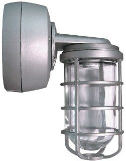 RAB VXBR2HH50QTS34 Vp Hid Bracket 50W, Metal Halide QT HPF 34 Silver with Glass Globe Cast Gd   Outdoor Lighting