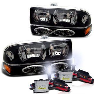 Chevy S10 Blazer Headlight + Bumper Light Lamp Set with 6000K HID Kit New Automotive