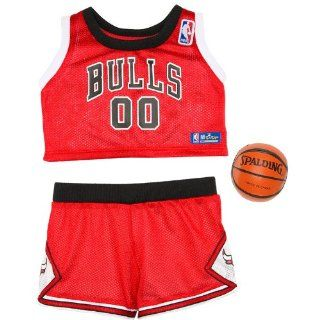Build a Bear Workshop, Chicago Bulls Uniform 3 pc. Teddy Bear Sports Team Outfit Toys & Games