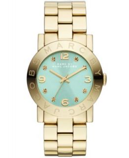 Marc by Marc Jacobs Watch, Womens Amy Rose Gold Tone Stainless Steel Bracelet 37mm MBM3221   Watches   Jewelry & Watches