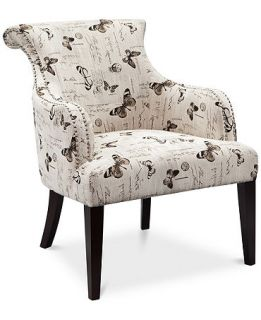 Tinsley Fabric Butterfly Accent Chair, Direct Ship   Furniture