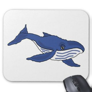 XX  Blue Whale Cartoon Mousepads