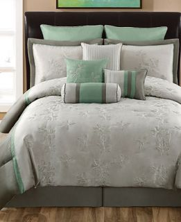 CLOSEOUT Milena 10 Piece Queen Comforter Sets   Bed in a Bag   Bed & Bath