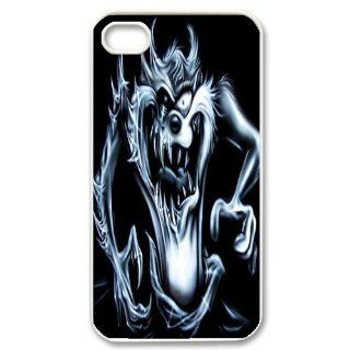 Mystic Zone Customized Taz iPhone 4 Case for iPhone 4/4S Hard Cover cool Cartoon Fits Case KEK0048: Cell Phones & Accessories