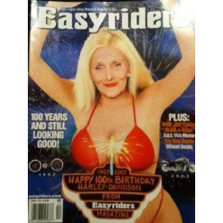 Easyriders Magazine December 2003 Happy 100th Birthday Harley Davidson!: EASY RIDERS: Books