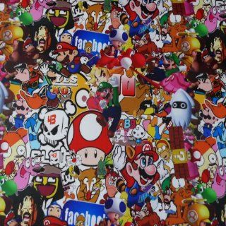 "JDM Anime Graffiti Sticker Bomb Vinyl Wrap Sticker Decal Film Sheet #206   12""X60"": Automotive"