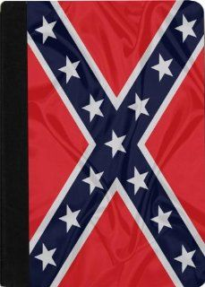 Rikki KnightTM Confederate Flag Design Black pu Leather and Faux Suede Case for Apple iPad� Mini: Computers & Accessories