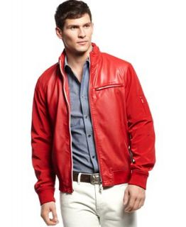 Armani Jeans Jacket, Eco Leather Colored Bomber   Coats & Jackets   Men