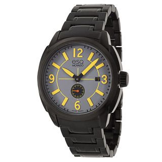 ESQ by Movado Men's 'Excel' Black Stainless Steel Swiss Quartz Watch ESQ by Movado Men's ESQ Watches