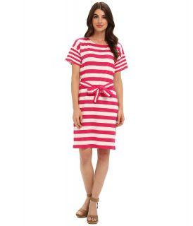 Jones New York Boat Neck Belted Dress Womens Dress (Pink)