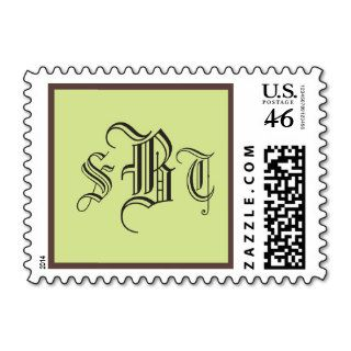 Formal Monogram Stamps Old English Letters Initial