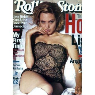Rolling Stone August 19 1999 #819 Angelina Jolie Cover, Carlos Santana, Blink 182, Limp Bizkit Korn & the Rock Porn Connection Jann Wenner Books
