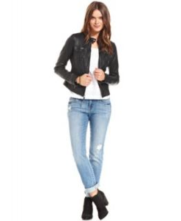 Lucky Brand Jeans Leather Jacket, Embroidered Top & Sofia Skinny Jeans   Women