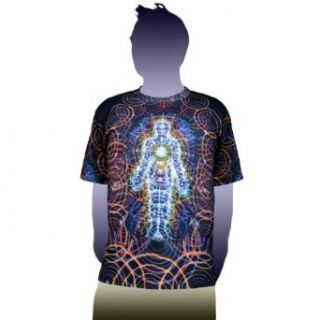 Body and Mind Visionary Art Alex Grey T Shirt  Crystal Tara   CT71 46: Clothing