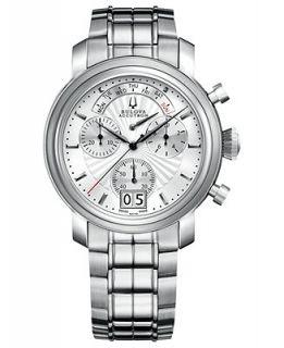 Bulova Accutron Watch, Mens Swiss Chronograph Amerigo Stainless Steel Bracelet 44mm 63C109   Watches   Jewelry & Watches