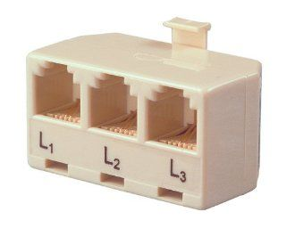 Allen Tel AT173A Three Single Line Phones to a Single Modular Outlet Triplex Modular Adapter Electronics