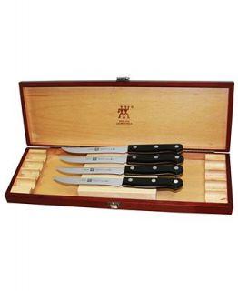 Zwilling J.A. Henckels Twin Gourmet Steak Knives, 4 Piece Presentation Box Set   Cutlery & Knives   Kitchen
