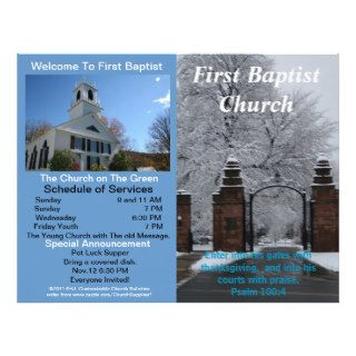 Customizable Weekly Church Bulletin (Outside Only) Customized Letterhead