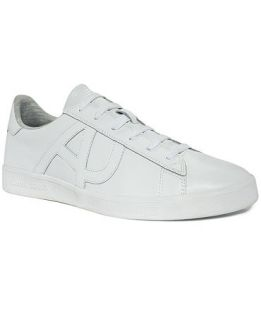 Armani Jeans Shoes, Leather and Jersey Sneakers   Shoes   Men