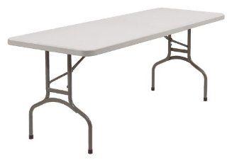 "30"" x 96"" Adjustable Height Resin Folding Table"