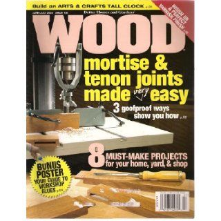 WOOD Magazine June/July 2004 Issue 156 (Build and ARTS & CRAFTS TALL CLOCK) Bill Brier Books