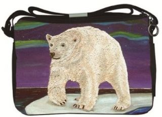Polar Bear Small Messenger Bag   From My Original Painting, Elusive Wonder   Support Wildlife Conservation   Read How Shoes