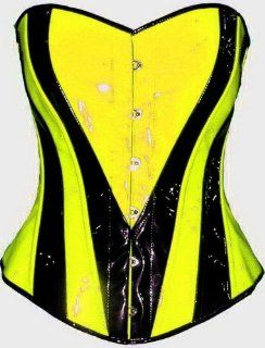 Heart Shape Lime Yellow Black Corset Overbust Basque Steel Busk Rainbow Multi Color Uv Neon Xs S M L Xl Custom Size Made to Order Plus Size Halloween Christmas Free Shipping USA : Other Products : Everything Else