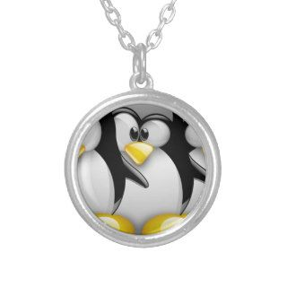 LINUX TUX BROTHERS CUSTOM NECKLACE