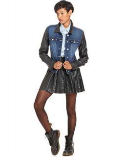 W118 by Walter Baker Jacket, Long Sleeve Faux Leather Denim   Jackets & Blazers   Women