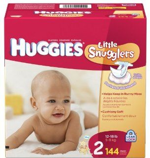 Huggies Little Snugglers Diapers, Size 2, 144 ct Health & Personal Care
