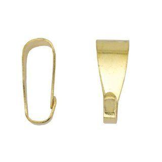 Beadalon 144 Piece 10 MM Pend Bail, Gold Plate