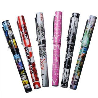 6X Various Unique Designs Ultimate Collectible New York City Ballpoint Pen NYC Gift Pen NY Souvenir Pens   Pack of 6  Ballpoint Stick Pens