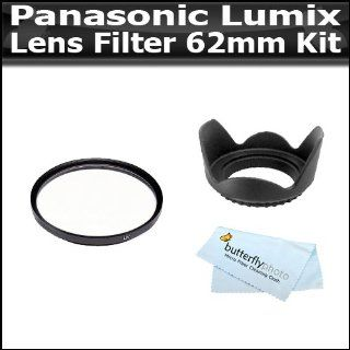 Lens Filter Kit For Panasonic Lumix DMC GH2 16.05 MP Live Digital Camera (W/14 140mm Lens) Includes 62mm Hard Rubber Lens Hood + 62mm Multi Coated UV Filter + BP MicroFiber Cleaning Cloth  Camera Lens Filter Sets  Camera & Photo