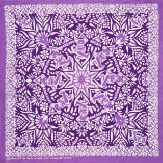 Grateful Dead   Unisex Adult   Bear Mandala Purple Bandana Purple: Clothing