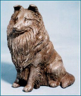 Shetland Sheepdog Signature Series Cold Cast Bronze Large Sitting Figurine 7.25 inches high #62 132 2   Collectible Figurines