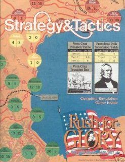 WWW Strategy & Tactics Magazine #127, with Rush to Glory, War with Mexico 1846 7, Board Game Toys & Games