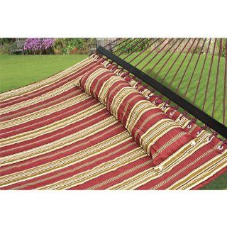 Hammock Quilted Fabric with Pillow Double Size Spreader Bar Heavy Duty : Doulbe Hammock : Patio, Lawn & Garden