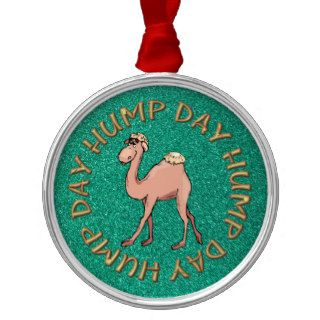 funny hump day camel christmas ornament