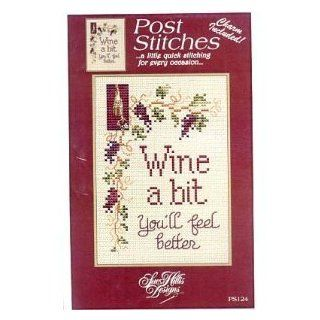 Wine a Bit Cross Stitch Pattern: Arts, Crafts & Sewing