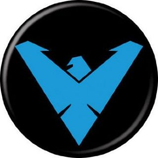 "Nightwing Logo   DC Comics   Pinback Button 1.25"" Bae 117: Clothing"