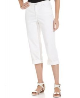 Style&co. Tummy Control Capri Jeans, Rinse Wash   Jeans   Women