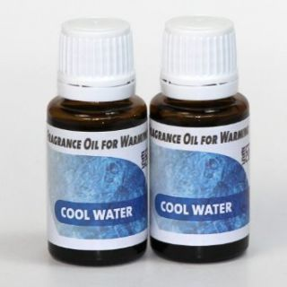 2 Pack. Cool Water Fragrance Oil for Warming from Ecoscents (15 mL). Highly concentrated for intense fragrance, ready to use   no wax or water carrier needed.