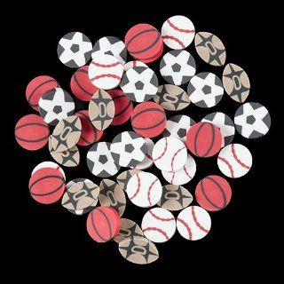 Sports Erasers   48 per pack Toys & Games