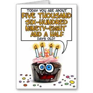 Happy Birthday Cupcake   15 years old Greeting Cards