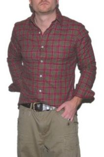 Polo Ralph Lauren Mens Plaid Shirt Red Green Brown Small at  Men�s Clothing store