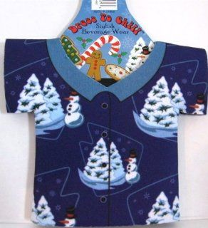 Dress to Chill Stylish Beverage Wear Gingerbread Man & Candy Canes: Health & Personal Care