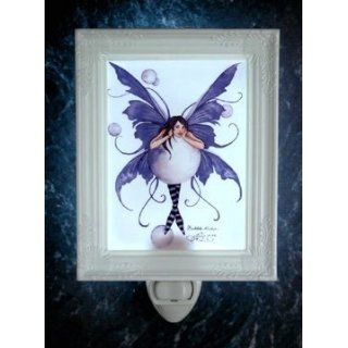 The Bubble Rider Amy Brown Porcelain Night Light Fairy Faery