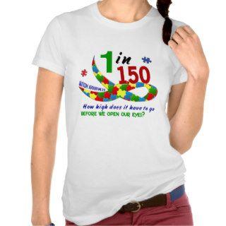 AUTISM AWARENESS 1 IN 150 HOW HIGH? TANK TOP