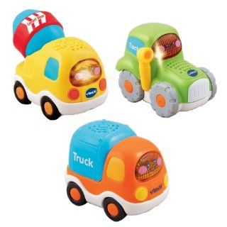 VTech Toot Toot Drivers 3 Pack Construction Vehicles : Toy Vehicle Playsets : Baby